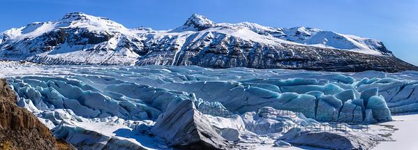 65 Svinafelljokull Glacier Panorama
