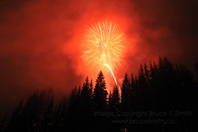 New Year's Eve fireworks at Sun Peaks Resort