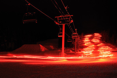 Torchlight ski at Sun Peaks Resort on New Year's Eve
