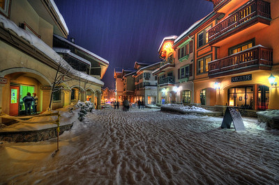 Resort Village at Night