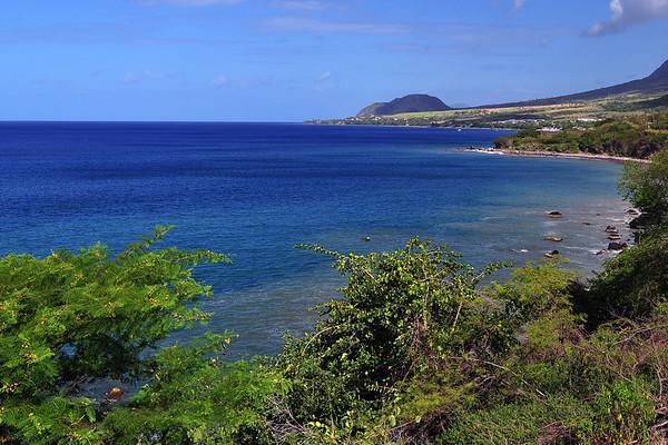 Saint Kitts shoreline in the Caribbean