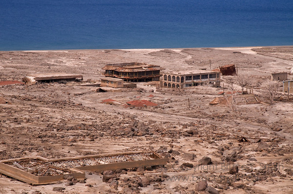 Incredible devastation on Montserrat from the volcanic eruption of July 1995.