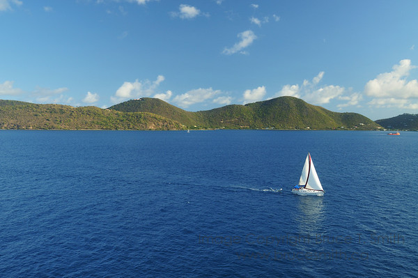 Sailing in the Caribbean near the British Virgin Islands