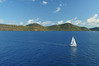 Sailing in the Caribbean near the British Virgin Islands
