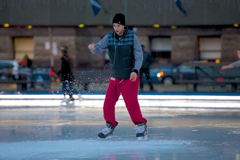 Skating at Nathan Phillips Square - Toronto City Hall