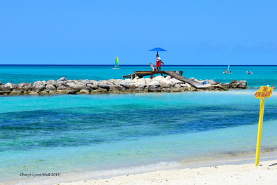 Princess Cays - Lifeguard on the beach (March 20, 2014)