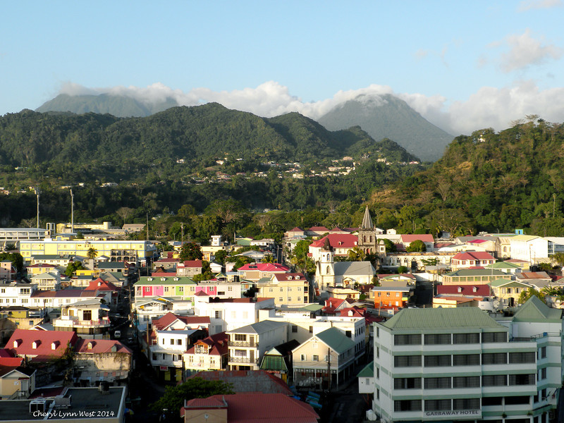Dominica - Coming into port (March 23, 2014)