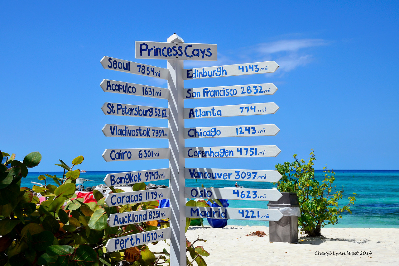 Princess Cays - Mileage to other cities (March 20, 2014)
