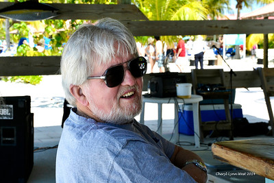 Princess Cays - Frank at the bar, enjoying a rum drink (March 20, 2014)