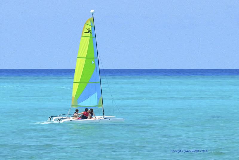 Princess Cays - watching the sailboats