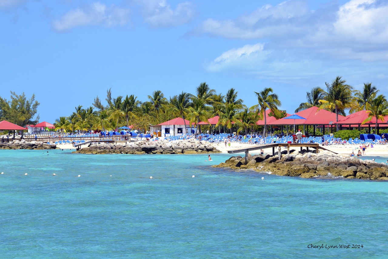 Princess Cays - Walking along the beach (March 20, 2014)