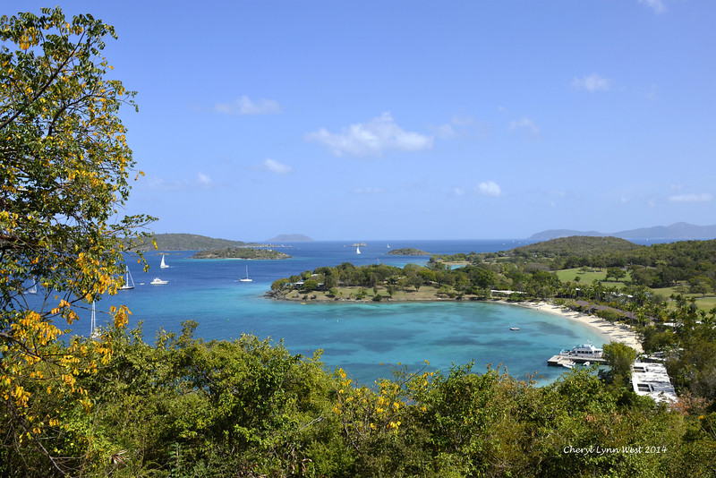 St. Thomas - Scenic view of the landing on St. John's Island (March 22, 2014)