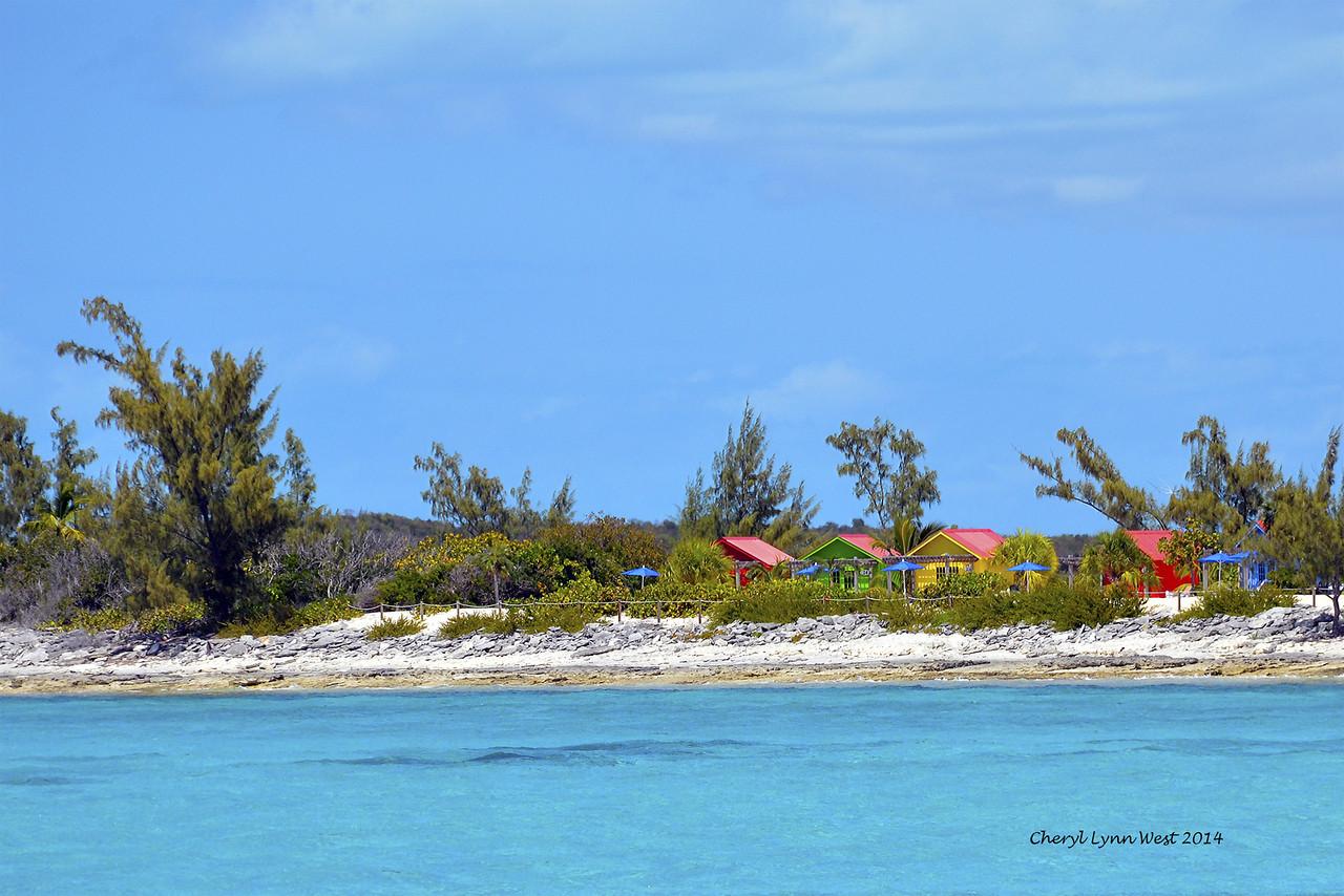 Princess Cays - Beach cabanas (March 20, 2014)