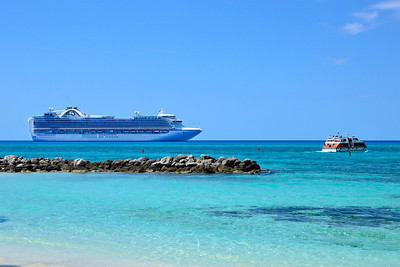 Princess Cays -Emerald Princess and tender boat (March 20, 2014)