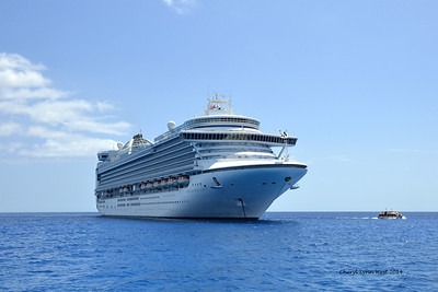 Princess Cays - View of the Princess Emerald from the beach (March 20, 2014)