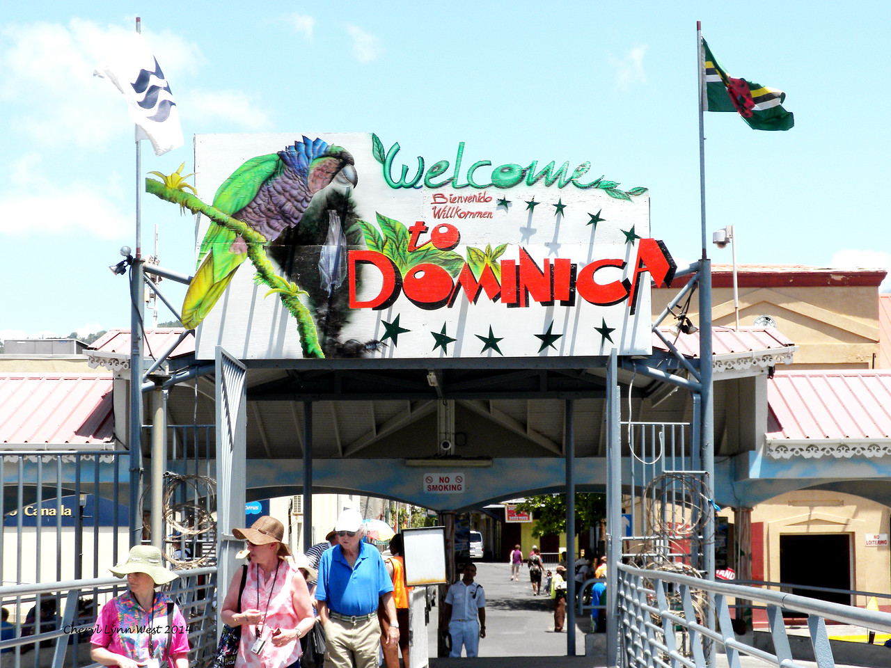 Dominica - Welcome Sign (March 23, 2014)