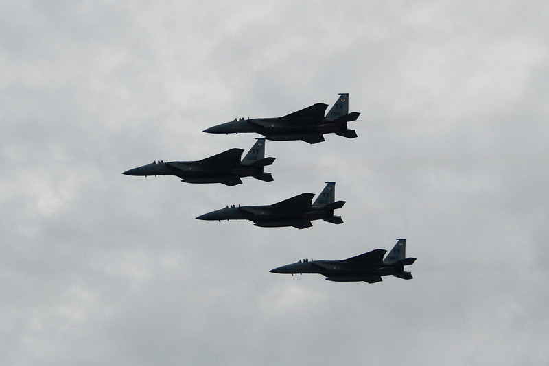 Flyover by the Air Force jets