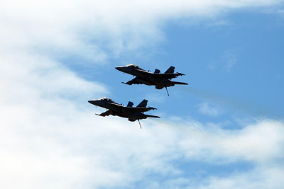 Fly over of the Air Force jets