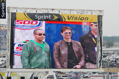 Tom Cruise was the honorary driver for the start of the Daytona 500