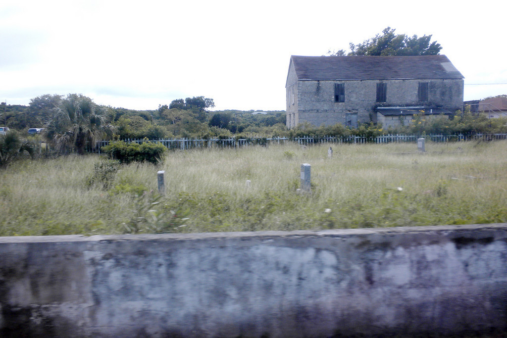 Graveyard and abandoned building