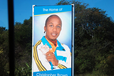 Christopher Brown, local hero on Eleuthera, who won a silver medal in the 4 x 400 m relay in the 2008 Olympics in Bejing.