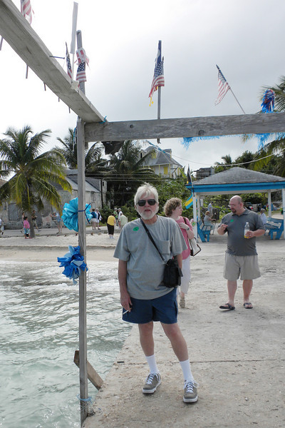 Frank on the pier in Tarpum Bay, Eleuthera