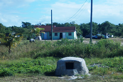 Home with bread baking oven in the front yard