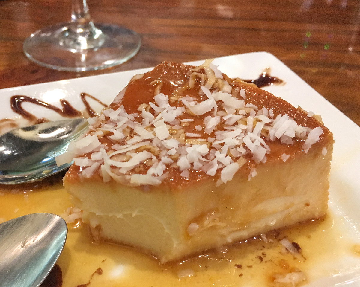 Flanes coco - This was so delicious, I started to eat it before I remembered to get a photo.