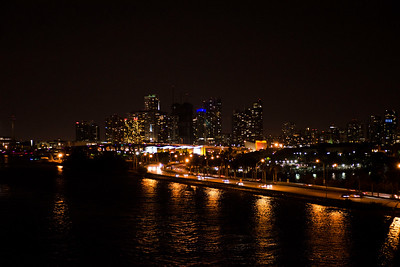 Nightfall at the Miami Port