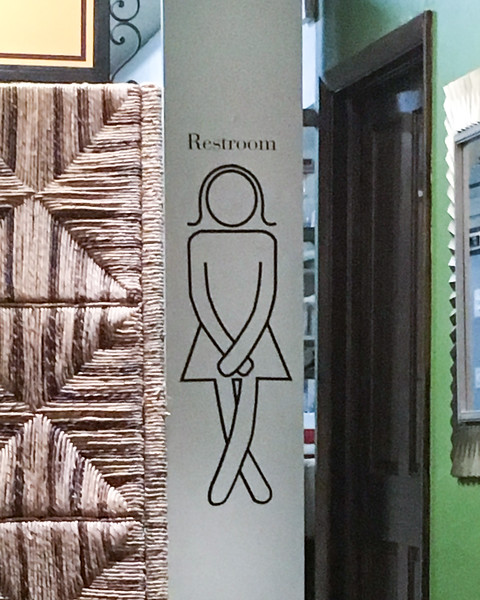 Ladies Room Sign