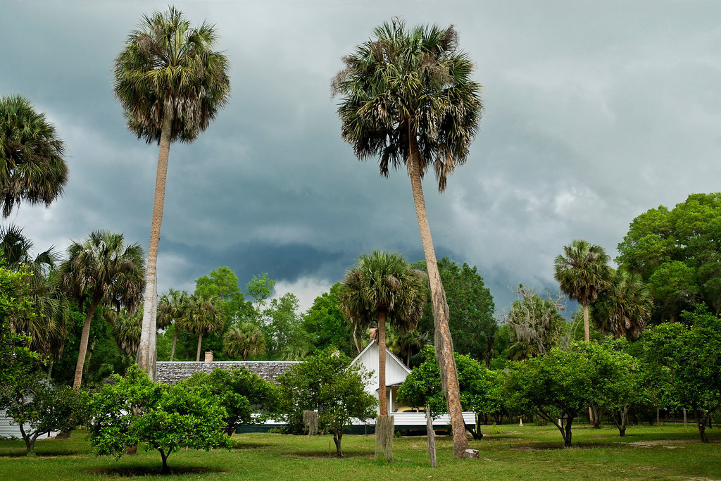 Cross Creek, home of Marjorie Kinnan Rawlings, author of The Yearling - thunderstorm was quickly rolling in