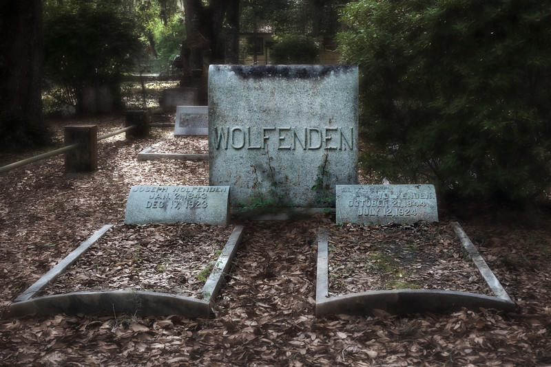 Micanopy Cemetery - Joseph Wolfenden was the first owner of the Wood-Swink General Store.
