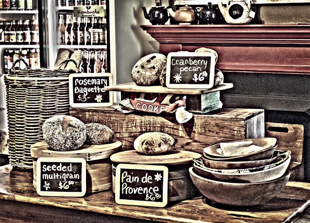We stopped at the Mosswood Farm store which sells organic coffee and some very delicious looking breads.