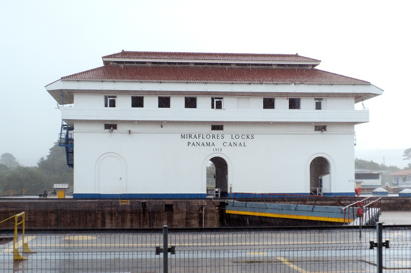 Miraflores Locks - we wanted to see the ships going through the locks, but it was too late in the day for a ship to start to traverse the locks.