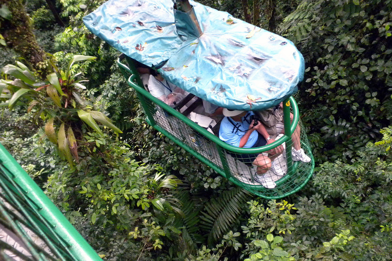 Aerial tram at the Rainforest in Costa Rica