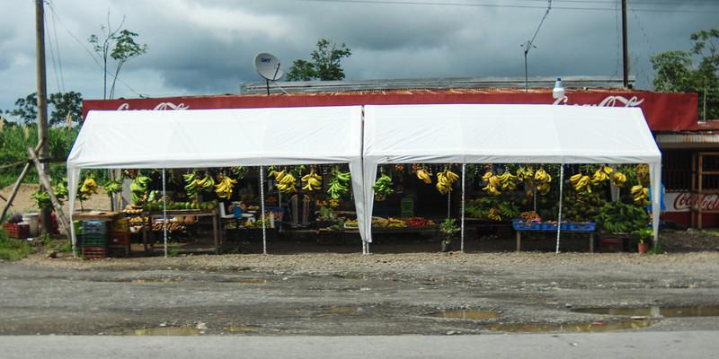 Roadside vendors in Jamacia