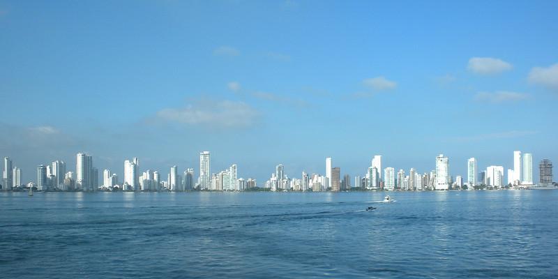 Cartagena, Columbia - view of the newer part of the city from the Island Princess