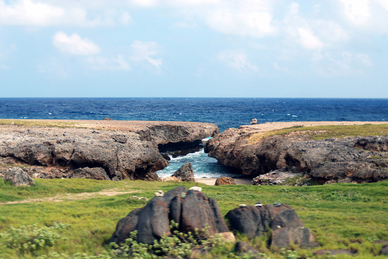 Aruba shoreline - This may have been a natural bridge at one time.