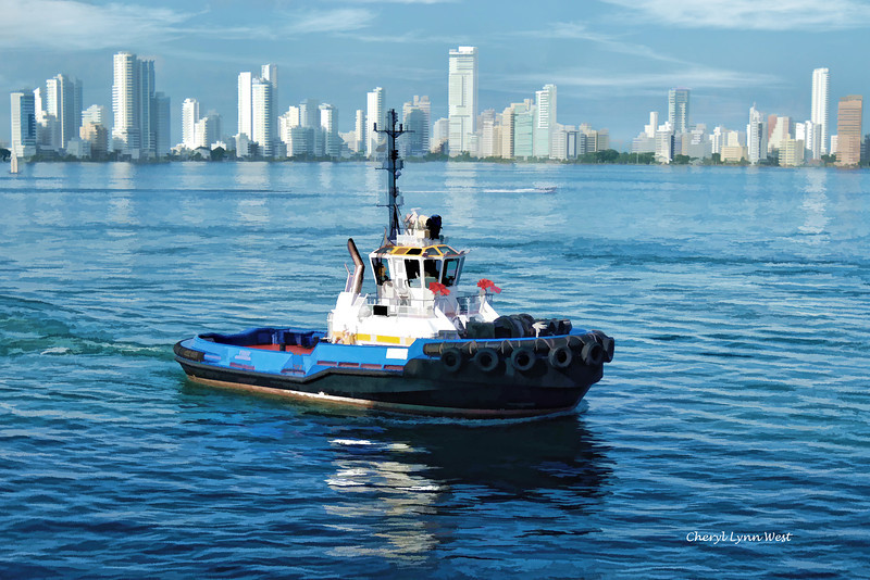 Pulling into port in Cartagena, Columbia - December 3, 2011