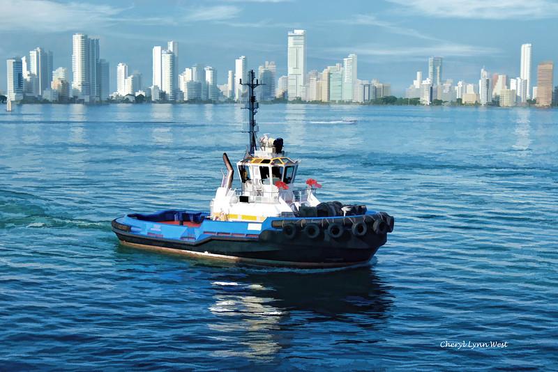 Pulling into port in Cartagena, Columbia - December 3, 2011