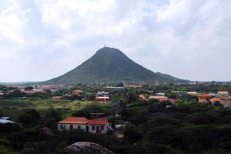 One of the higher mountains in Aruba