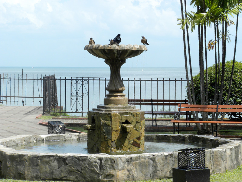 Water fountain in Panama City
