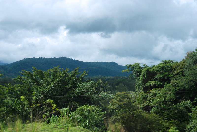 View of the mountains and rainforest in Costa Rica