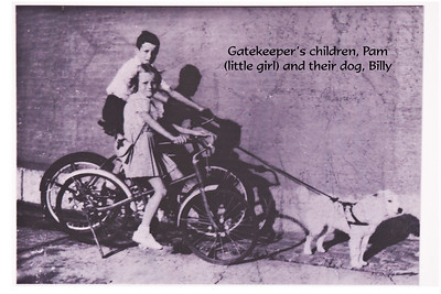 The lighthouse keepers' children lived and played on the grounds.  Here are two of the children with their dog, Billy.  This picture and others gave a glimpse into their daily lives.