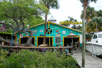 Dockside restaurant next to the Ponce Inlet Lighthouse.