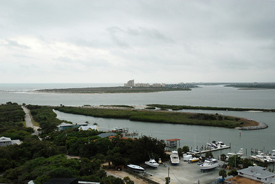 View of Ponce Inlet from the top of the lighthouse