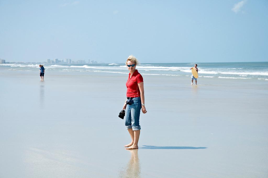 Kathleen enjoyed walking along the shoreline.