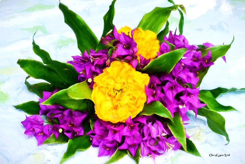 St Lucia, Balenbouche Estate - Floral decorations