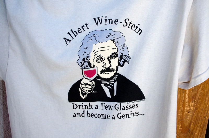T-shirt at the San Sebastian Winery - I love this saying.