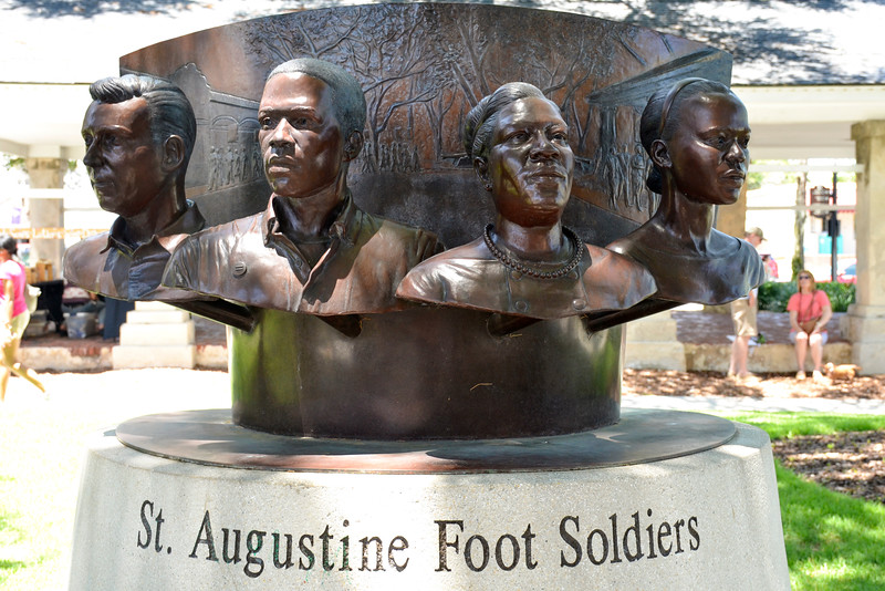 Monument to the Civil Rights Movement in the 1960s in St. Augustine.